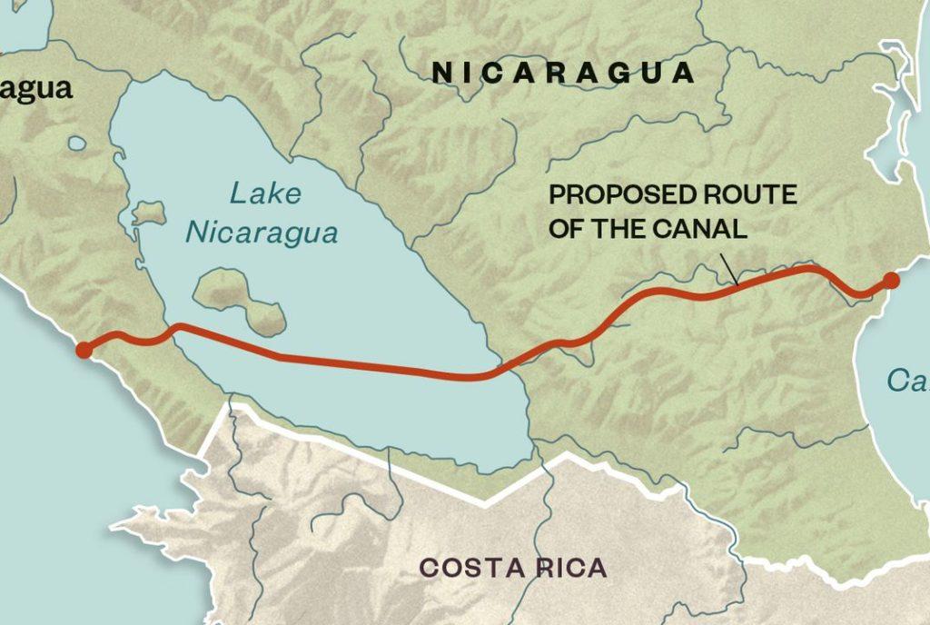 Νικαράγουα - σχέδια νέας διώρυγας