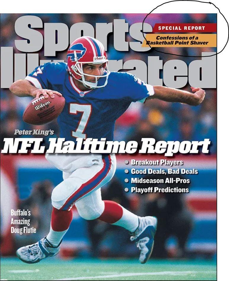Το πρωτοσέλιδο του «Sports Illustrated» (Νοέμβριος 1998) με την κατάθεση ψυχής του Στέβιν Σμιθ για την εμπλοκή του στο σκάνδαλο